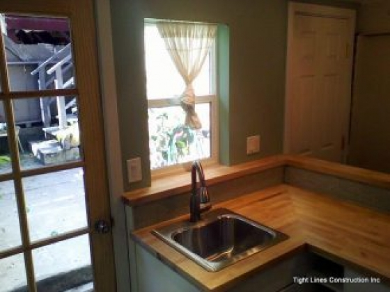 Kitchenette and open shower bathroom were the fucus of this In-Law remodel in SF near Precita Park
