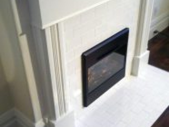 This fireplace surround was installed to house an electric unit where the original had been removed back in the 60's