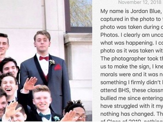 Gay Student Jordan Blue on Refusing To Do Nazi Salute in Viral Pic